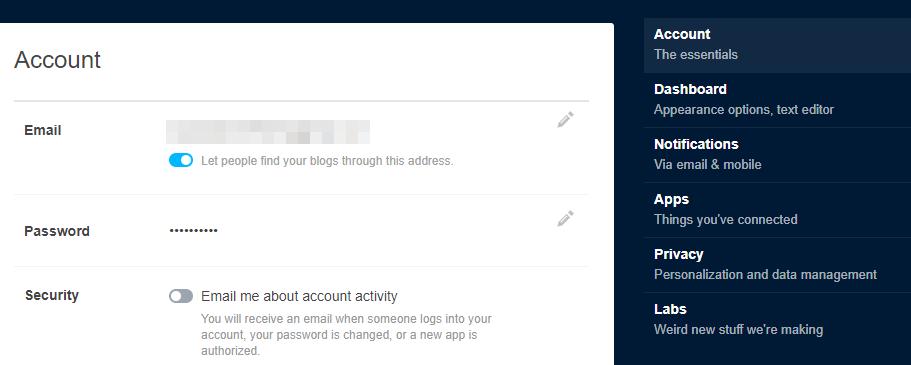 Register a Tumblr application
